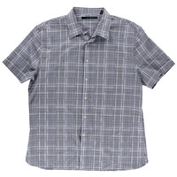 Perry Ellis Mens Plaid Cotton Button-Down Shirt