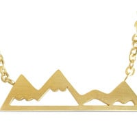 Mountain Top Necklace For Mountain Lovers