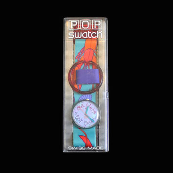 Pop Swatch Watch, Langoustine Swatch Watch, 1990's Swatch Watch, Retro Watch, Swatch Watch