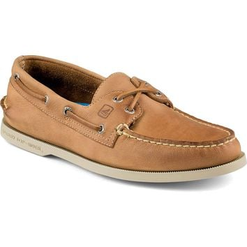 Men's Authentic Original Cross Lace 2-Eye Boat Shoe in Tan by Sperry