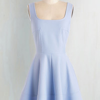 Pastel Short Length Sleeveless Fit & Flare Met with Splendor Dress in Periwinkle by ModCloth