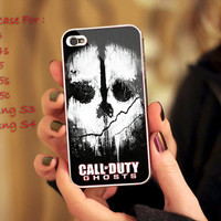 Call Of Duty Ghost Print on cover for Samsung Galaxy and iPhone case. Select an option for device and colour