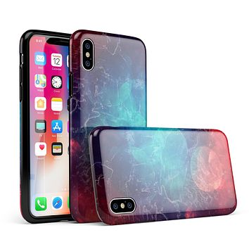 Abstract Fire & Ice V7 - iPhone X Swappable Hybrid Case