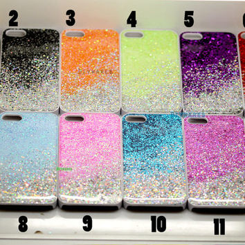 Real Glitter bling Case cover Samsung Note 3 Case mini  Galaxy s4 s3 case Sony Xperia Z case z1 LG G2 case, HTC One case, Lg Google Nexus 5