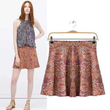Strong Character Design Stylish Slim Floral Skirt Women's Fashion Dress Umbrella [5013324612]