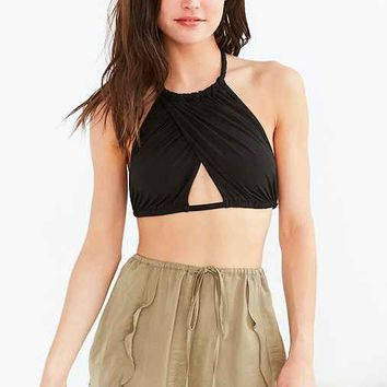 Out From Under Mila Cross Front Rope Tie Bra Top