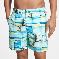 Original Penguin Photo Collage Print Swim Shorts