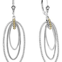 Women's LAGOS Caviar 'Superfine' Two-Tone Drop Earrings - Silver/ Gold