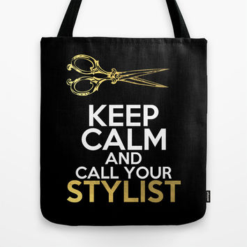 Call Your Stylist Tote Bag by Climbing Mountains Art