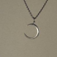 Moon Jewelry -  Silver Moon Necklace Medium