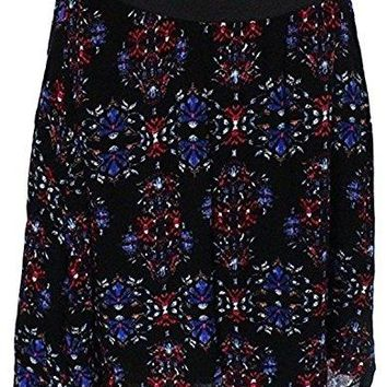 WAYF - Where are you from? Women's Black Floral A-Line Floral Skirt Size Medium