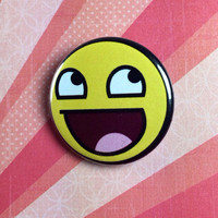 Awesome face pinback button badge