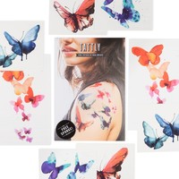 Tattly Temporary Tattoo Set | The Watercolor Butterflies