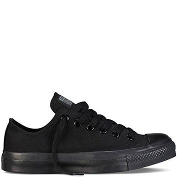 Men & Women Converse Chuck Taylor All Star Low Top (10.5 Men 12.5 Women, Black Monochrome)
