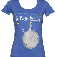 Ladies Blue Marl The Little Prince Book Cover Scoop Neck T-Shirt From Out Of Print : TruffleShuffle.com