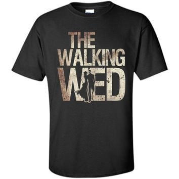 Walking Wed Shirt Zombie Wedding Couple Husband Wife Tee t-shirt