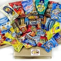 50 Count Sweet & Salty Variety Snack Care Package for College, Military, Sports & More
