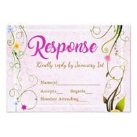 Rustic Floral Buds | Wedding Response Card