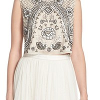 Needle & Thread Embellished Georgette Crop Top | Nordstrom