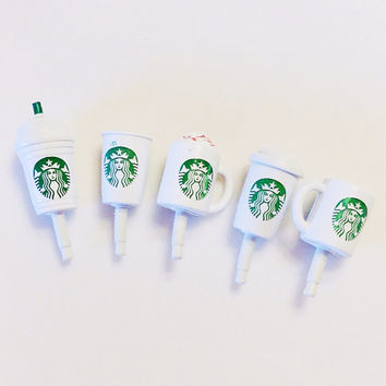 Phone dust plug jack coffee Starbucks frappe mocha hot mug coffee ice latte iPad iPhone ipad mini kindle white