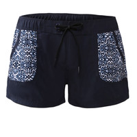 Stylish Patch Pocket Black Board Shorts LAVELIQ