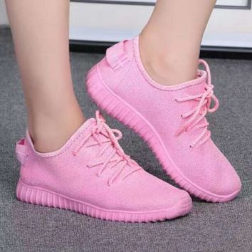 Summer new candy-colored coconut casual shoes wild breathable lightweight running shoes women trot