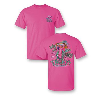 Sassy Frass Who are you Calling Tacky Flamingo Bright Girlie T Shirt
