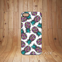 iPhone 5s Case iPhone 5 Case iPhone 4s Case iPhone 4 Case - Personalized Pineapple Pattern Hard Plastic Case Cover