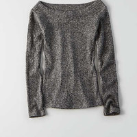 Don't Ask Why Off-The-Shoulder Sweater, Gray