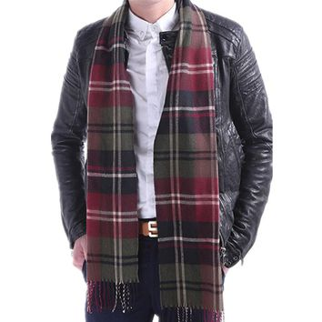 HOT SALE!! New 15 Colors Cashmere Men's tassel British winter scarves and autumn scarf men with colorful plaid SC2038 Soft