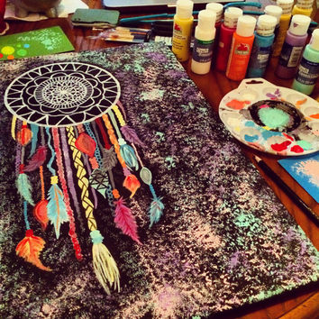 "Original Dreamcatcher Painting. Done on canvas. 16"" X 20"""