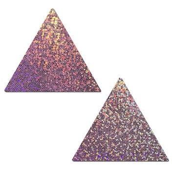 Pasties - Trippy Triangle: Lilac Glitter Triangle Nipple Pasties by Pastease® o/s