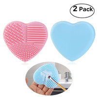 2 Pcs Silicone Makeup Brush Cleaner