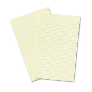 Post-it Notes, Original Pad, 5 Inches x 8 Inches, Lined, Canary Yellow, 50 Sheets per Pad, Two Pads per Pack