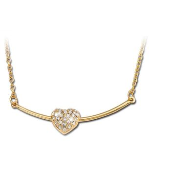 Colar Retro Exquisite Gold Link Heart Necklaces for Womens