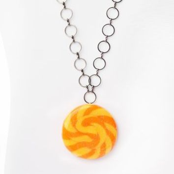 Glitterlimes Swirl Pop Necklace - Orange - Punk.com