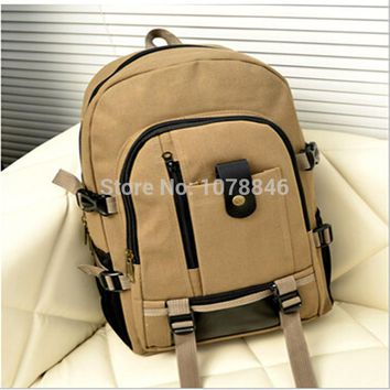 2014 New version of the multi-functional men's casual canvas luggage bag backpack travel bag