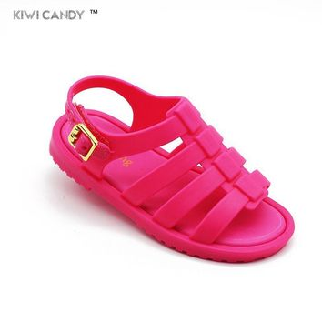 summer 3 color baby todder beach sandal 12.8cm-17.8cm cute retro Rome children boys girls baby beach sandals toe shoes Sapato