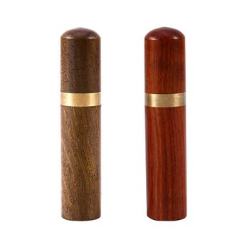 Wood Toothpick Holder Capsule Case Portable Natural Craft Outdoor Use Toothpick Box