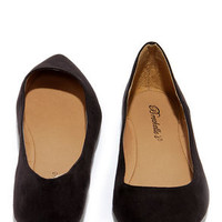 Low and Behold Black Suede Pointed Flats