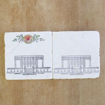 Mesa Arizona LDS Mormon Temple Marble Coasters
