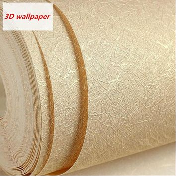 Modern solid silk wallpaper roll waterproof wallpaper 3d for living room bedroom background TV Backdrop  home decor