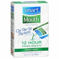 SmartMouth 12 Hour On-the-Go Activated Mouthwash Packets, Fresh Mint