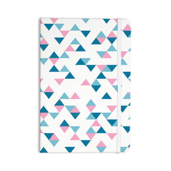 "Project M ""Triangles Pink"" Blush Blue Everything Notebook"