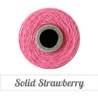 10 yards/ 9.144 m Solid Strawberry Twine, String, Bakers Twine, Light Pink Twine, Gift Wrapping, Invitations, Packaging