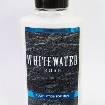 Bath & Body Works WHITEWATER RUSH Body Lotion for Men 8 oz
