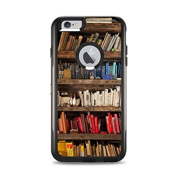 The Vintage Bookcase V1 Apple iPhone 6 Plus Otterbox Commuter Case Skin Set