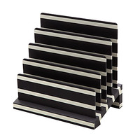 "See Jane Work® Desktop File Sorter, 5 3/4""H x 9""W x 8 3/4""D, Black/White Stripe Item # 298919"