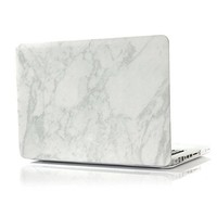 "MacBook Case - Soft Touch - Hard Case - Top & Bottom Coverage by King Cases (Macbook Air 13"", White Marble)"