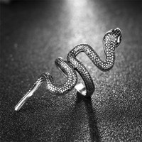 Fashion Snake Pattern Design Long Rings Finger Jewelry High Quality 1 Pcs Punk Alloy Party Men Ring Trendy Jewelry Accessories